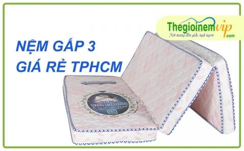 Nệm gấp 3 giá rẻ TPHCM