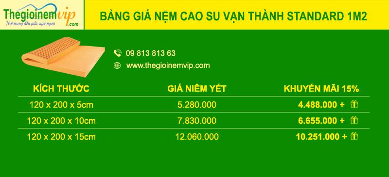 bang-gia-nem-cao-su-van-thanh-standard-1m2