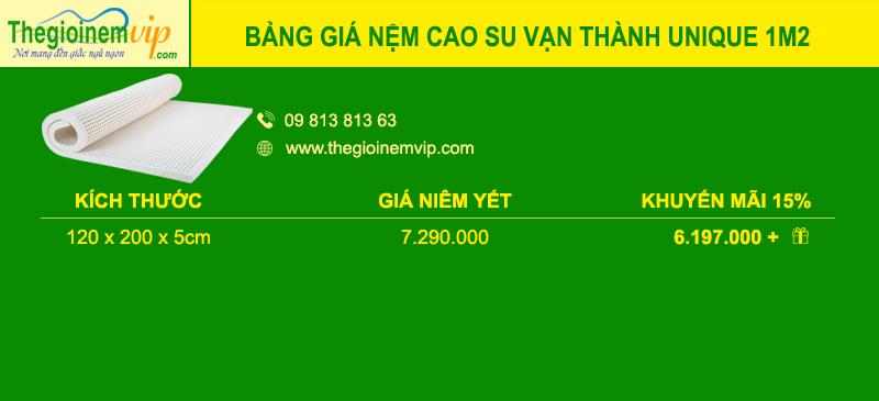 bang-gia-nem-cao-su-van-thanh-unique-1m2