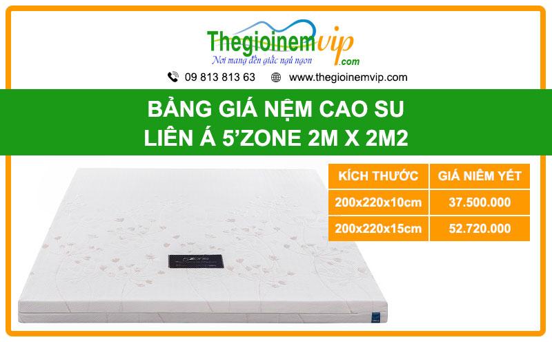 bang-gia-nem-cao-su-lien-a-5ZONE-2m-x-2m2-2mx2m2