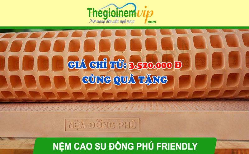 Nệm cao su thiên nhiên Đồng Phú Friendly: Giá từ 3.520.000 đ + Quà