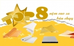 Top 8 sản phẩm nệm cao su được chọn nhiều nhất tại Thế Giới Nệm Vip