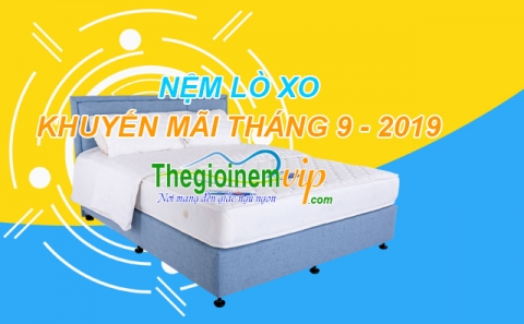 Nệm lò xo liên kết và túi độc lập cao cấp khuyến mãi tháng 9 - 2019