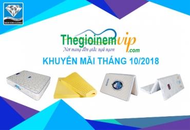 Khuyến mãi nệm Kim Cương tháng 10/2018 tại Thế Giới Nệm Vip